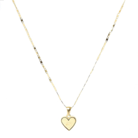 Ketting ''love to travel'' stainless steel, goud