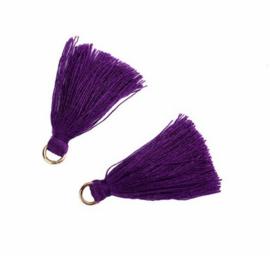 Flosjes 3,5cm ''purple'' 10 stuks