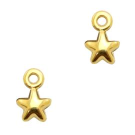 Mini bedel ''star'' goud 1 stuk
