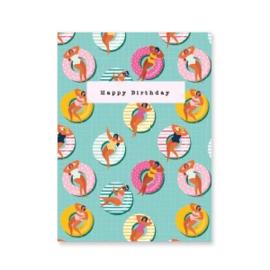 Mini kaart ''happy birthday''