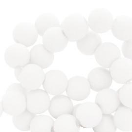 Acryl kralen 4mm, white