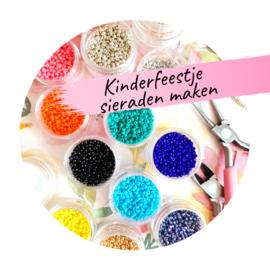 Kinderfeestje ''sieraden maken'' vanaf 6 kinderen