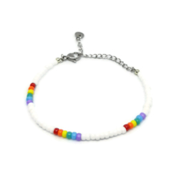 Little beads armbandje ''rainbow'' handmade