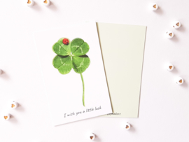 Mini kaartje ''little luck''