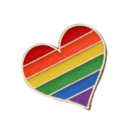 Pin ''rainbow heart''