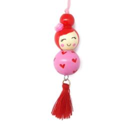 """Gelukspoppetje ''little hearts"""" pink"""