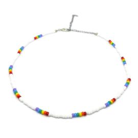 Little beads ketting ''rainbow'' 1, handmade
