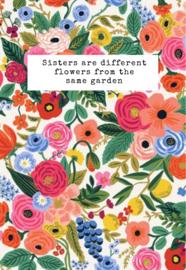 Mini kaartje ''sisters''