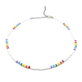 Little beads ketting ''rainbow'' 4, handmade