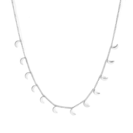 Ketting stainless steel ''tiny moons'' silver