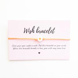 Wish-bracelet ''heart'' orange