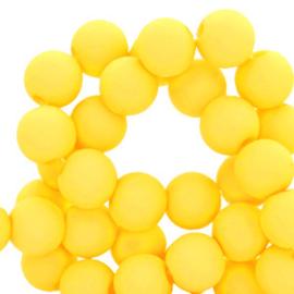Acryl kralen 4mm, yellow