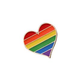 """Pin """"rainbow heart''"""