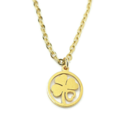 Bedelketting ''lucky'' stainless steel, gold