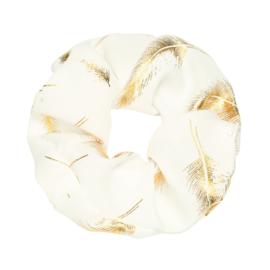 Scrunchie ''golden feather'' white