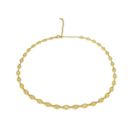 Ketting ''chunky chain'' stainless steel, gold