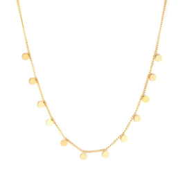 Ketting stainless steel ''tiny rounds'' gold