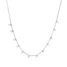 Ketting stainless steel ''tiny hearts'' silver