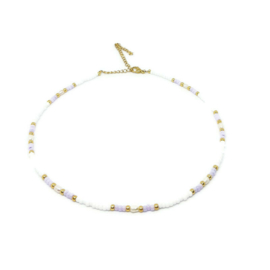 Beads necklace ''white pearl''