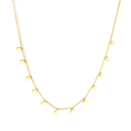 Ketting stainless steel ''tiny hearts'' gold
