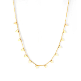 Ketting stainless steel ''tiny triangels'' gold