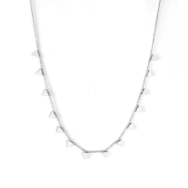 Ketting stainless steel ''tiny triangels'' silver