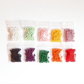 Kralen pakket acryl kralen, 10 kleuren