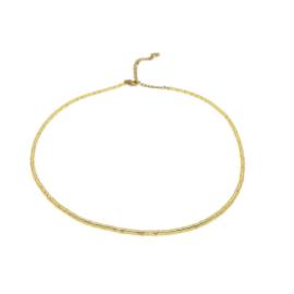 Ketting ''miyuki'' 2mm metallic gold