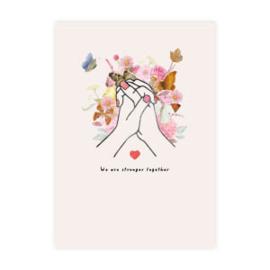Kaart ''stronger together''