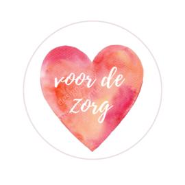Stickers ''hart voor de zorg'' 8 stuks