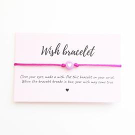 Wish-bracelet ''heart'' lila