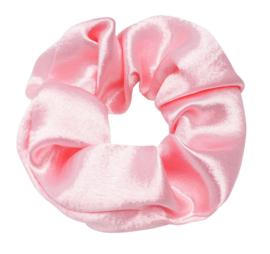 Scrunchie ''satin'' baby pink