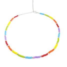 Little beads ketting ''rainbow'' 6, handmade