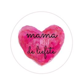 Stickers ''mama jij bent de liefste'' 8 stuks