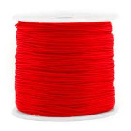Macramé draad 0,8mm ''red'' 1 meter