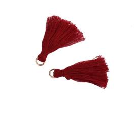 Flosjes 3,5cm ''dark red'' 10 stuks