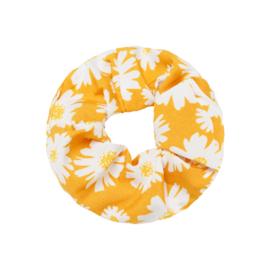 Scrunchie ''flowerpower'' yellow