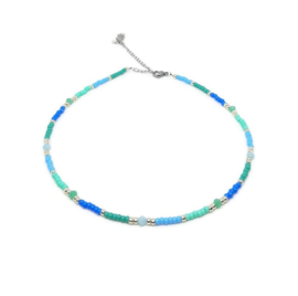 Beads necklace ''blue stones''