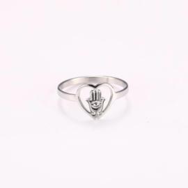 Ring stainless steel ''evils eye'' silver