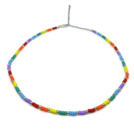 Little beads ketting ''rainbow'' 2, handmade