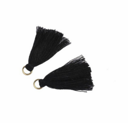 Flosjes 3,5cm ''black'' 10 stuks