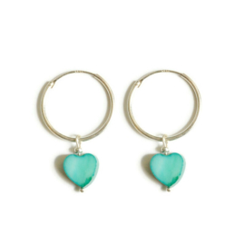 Ringoorbellen ''heart'' 925 silver