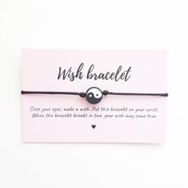 Wish-bracelet ''yingyang''