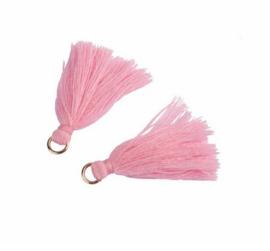 Flosjes 3,5cm ''light pink'' 10 stuks