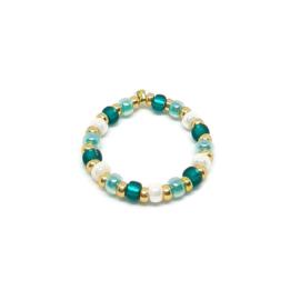 Bead ring ''ocean colors''