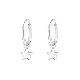 Ring oorbellen met bedel ''little star'' 925 silver