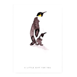 Kaart ''pinguïn''