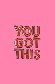 Mini kaartje ''you got this''