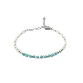 Armband ''tiny gemstones'' turkoois