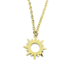 Bedelketting ''sunshine'' stainless steel, gold
